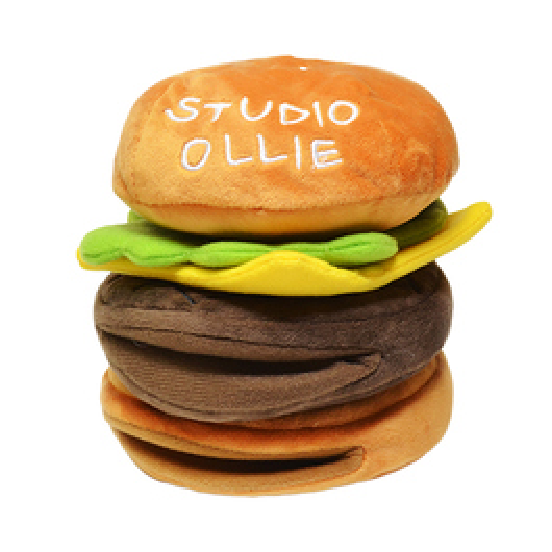 法國 Studio Ollie 起司漢堡-藏食嗅聞玩具 | 難易指數3顆星